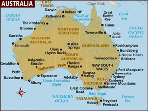 Francofiles France Towns French Cities - Map of australia with cities and towns